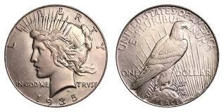 1935 Silver Half Dollar Value Chart 1935 Peace Silver Dollar Coin Value Prices Photos Info