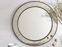countryside antique wall round wood frame mirror
