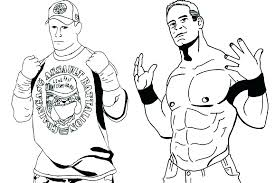 Wwe Coloring Pages Kane Pictures To Print Championship Belt