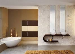 Simple and elegant modern bathroom concept. Great mix of textures and soft,  luxurious colors