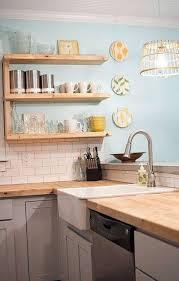 Kitchen , Kitchen Butcher Block Countertops : Reclaimed Wood Butcher Block  Countertops With Marble Sink And