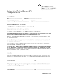 Blank Loan Agreement Letter Free Printable Form Generic And