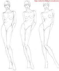 Fashion эскиз урок 12 позы моделей