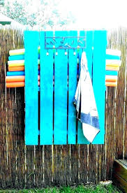 outdoor spa and pool towel rack bronze home living ideas drying holder