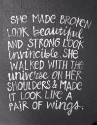 Beautiful And Strong Quotes Best of Lovely Quote About Strength She Made Broken Look Beautiful And