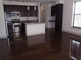 Concrete Floors Kitchen Gorgeous Aqua Cinco Finish Stained Concrete Floors Design