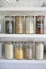 kitchen office organization. organized pantry bulk food in jars with paint pen label kitchen office organization