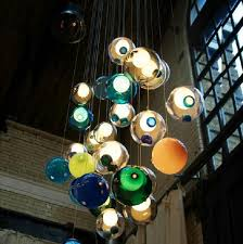 new glass ball pendant lamp chandelier glass spheres modern lamp color bubble 12 15 19 25 head led crystal chandeliers large ceiling lights lighting ceiling