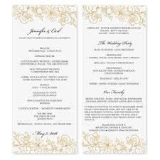 Bulletin Templates Word Free Wedding Program Templates For Microsoft Word Publisher Wedding