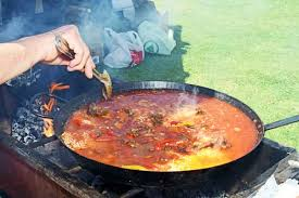 Judging Paella at the annual Du Toitskloof Muratie Wines Cook-Off