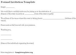Formal Business Invitation Wording Formal Invitation Wording Business Event Templates With
