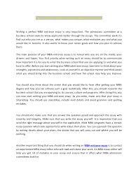 excellent mba entrance essay