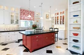 black and red kitchen design. view in gallery kitchen island black and red steals the show here design o