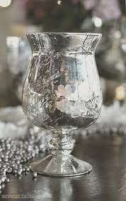 ivy vase candleholder mercury glass silver 6 75in