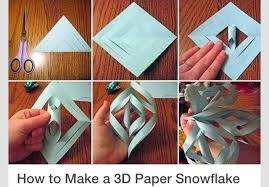 How To Make A 3d Snowflake How To Make A 3d Paper Snowflake In 6 Simple Steps Tipit By