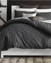 masculing grey and white bedding