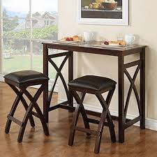 3 piece breakfast pub set at big lots 159 42wx22dx36h can change upholstery on seating and add stainless top from ikea