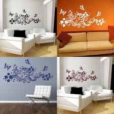Small Picture FILIGREE BUTTERFLIES FLOWERS swirls floral wall art sticker