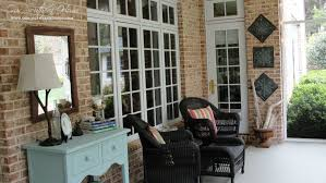 covered porch furniture. Good Looking Cream Bricks Stoned Wall For Your Front Porch Furniture Ideas Along Covered