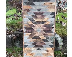 Rustic Aztec Tribal Print Quilt Wood Pattern Wall Art & Rustic Tribal Aztec Print Wood Wall Art Adamdwight.com