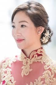 bride sarah hairdo and makeup by agnes yip