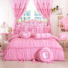rose color bedding bedding solid color princess bedding sets twin full queen king pink purple rose