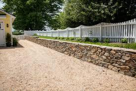 fieldstone retaining wall