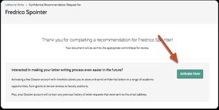interfolio upload letter of recommendation submit a letter of recommendation to interfolio help for letter