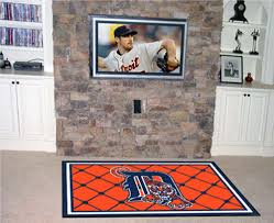 detroit tigers 4 x 6 area rug
