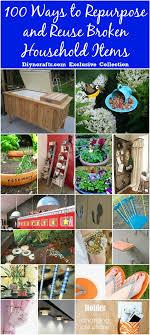 Repurposed Items 100 Ways To Repurpose And Reuse Broken Household Items Diy Crafts