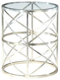 mainstays side table side table round glass top table silver finish transitional side tables and end