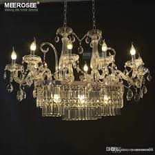 gorgeous rectangle crystal chandelier lighting fixture 13 lights glass chandelier lighting re hanging dining room drop lamp crystal chandelier light