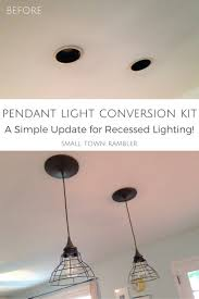 pendant lighting for recessed lights. pendant light conversion kit from lowes lighting for recessed lights d
