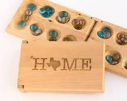 Game With Rocks And Wooden Board Mancala Etsy 100