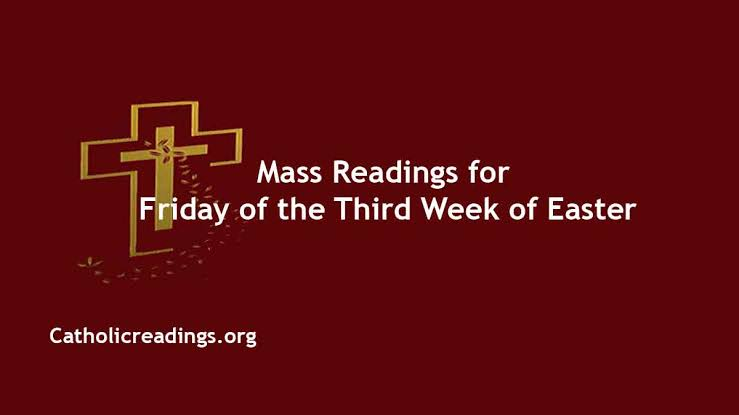 Catholic 23 April 2021 Daily Mass Reading Online