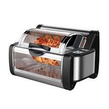 nutrichef pkrt13bk vertical countertop rotisserie rotating oven black for