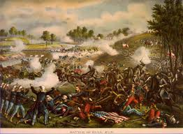defeat in war. to take richmond the confederate capital union army would first have defeat troops stationed at town of manassas virginia in war