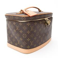 more views louis vuitton monogram nice cosmetic travel bag