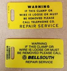 bellsouth 'inteliport 2' idx5466 card used as the network Bellsouth Complete Hook Up Wiring Diagram yellow ground wire tags used by southern bell bellsouth telephone company (circa 1980s