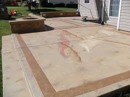 concrete patio with square fire pit. Stamped Concrete Patio With Square Fire Pit Photo - 5 A