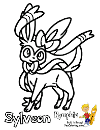 Small Picture Pokemon Coloring Pages Sylveon artereyinfo