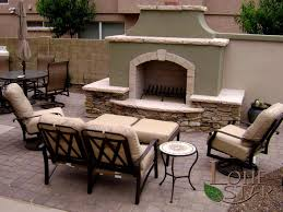 beautiful fireplace traditional outdoor fireplace with flagstone and stone veneer accents in scottsdale az