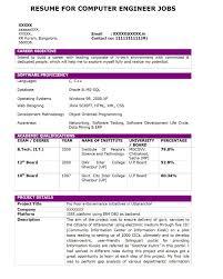 Computer Engineering Resume Computer Job Resumes Enderrealtyparkco 12