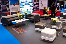 CORT provided lounge furnishings where attendees could sit relax