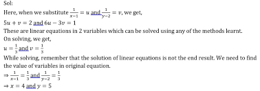 solve the following pair of equations