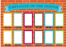 employee of month employee of the month wall vector choose from thousands of