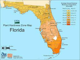Hardiness Zone Chart Florida Hardiness Zones