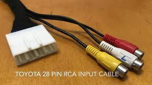 toyota 28 pin rca extension cable youtube Toyota FJ Trailer Wiring Harness toyota 28 pin rca extension cable