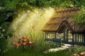 Fairy Cottage Background ...