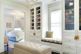 walk in closet window seat design ideas with around walk in closet with window large interesting design ideas